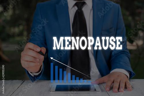 Obraz na plátně Handwriting text writing Menopause