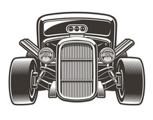 Vector Illustration Of Hot Rod...