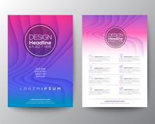 Purple Flyer Design Template. ...