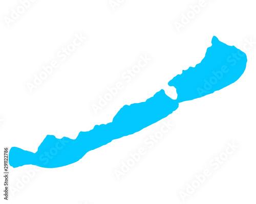 Obraz na płótnie Karte des Plattensees