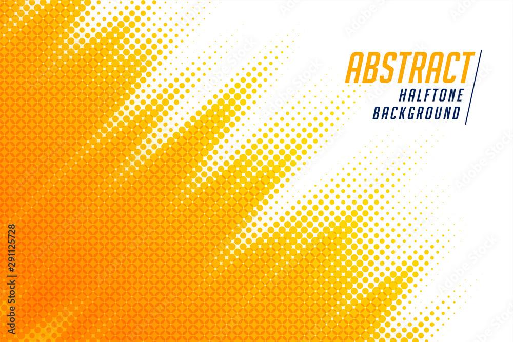 Fototapeta abstract; bright yellow diagonal halftone background design