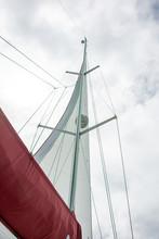 Sailboat Sail Viewed From Belo...