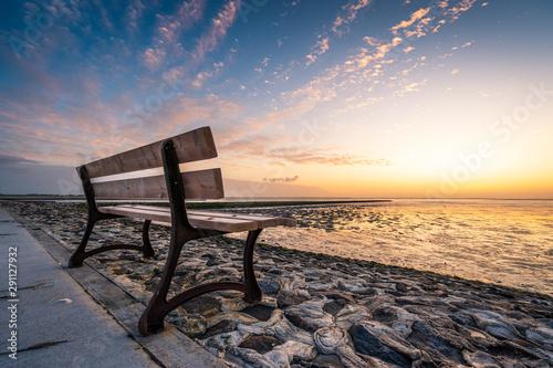 Sonnenuntergang an der Nordesseküste