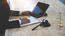Law Legal Technology Concept. ...