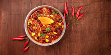 Chili Con Carne With Chilli Pe...