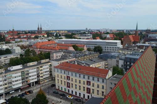 Fototapeta Wrocław-centrum miasta latem/Wroclaw-the city center in summer, Lower Silesia, Poland obraz