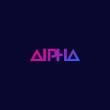 Alpha Logo, Minimal Design, Ve...