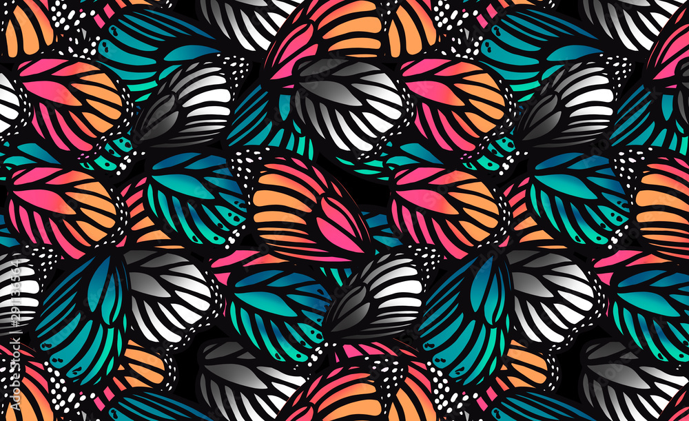 Fototapety, obrazy: pattern with butterfly wings