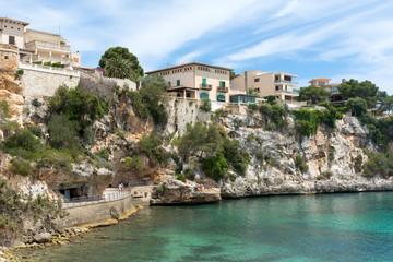 Buildings on the rocks in Porto Cristo Majorca