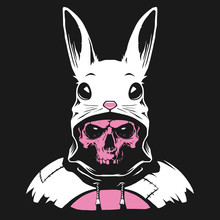 Rabbit Hood With Human Skull
