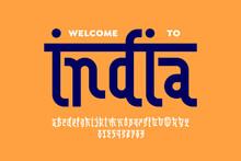 Indian Style Latin Font Design...