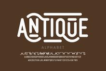 Antique Style Font, Alphabet L...