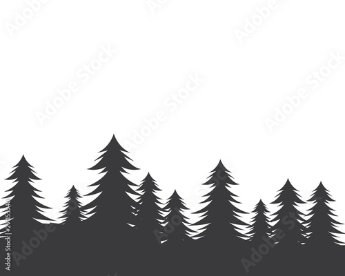 pines tree vector illustration design Canvas Print