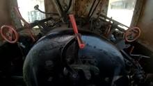 4K Tilt Up Inside Old Steam Lo...