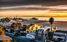Dramatic Sunset Over Santa Mon...