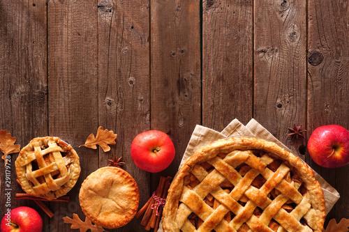 Homemade autumn apple pie bottom border Canvas