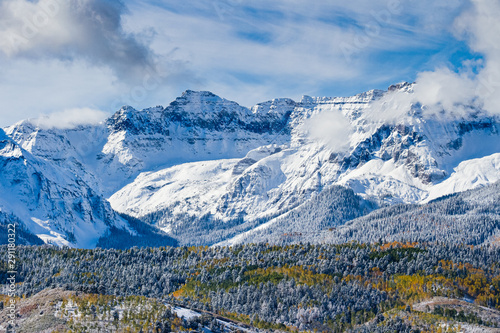 Beautiful and Colorful Colorado Rocky Mountain Autumn Scenery - The San Juan Mountains of Colorado