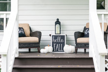 Cute Stylish Fall Decorations On The Front Porch