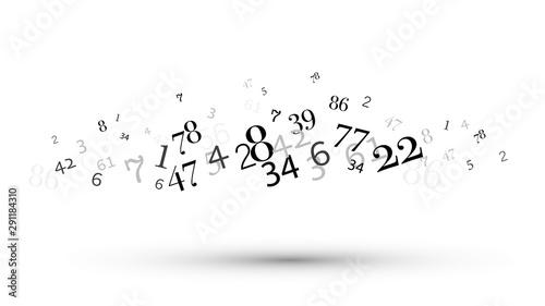 numeri, nuvola di numeri, confusione, gruppo Wallpaper Mural
