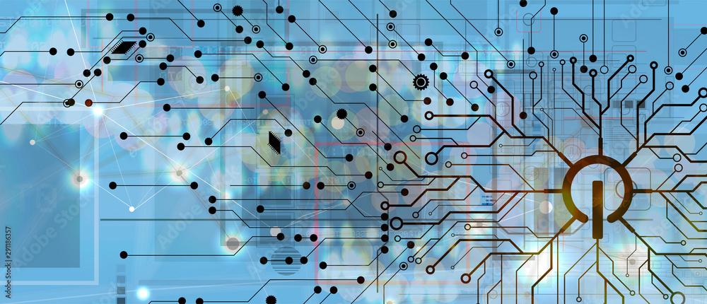 Fototapeta Conceptual technology illustration of artificial intelligence