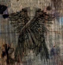 Dark Art Composition. Angels Wings