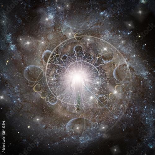 Fotografia  Eternal Spirit. Spiral of time in space. Aura or soul