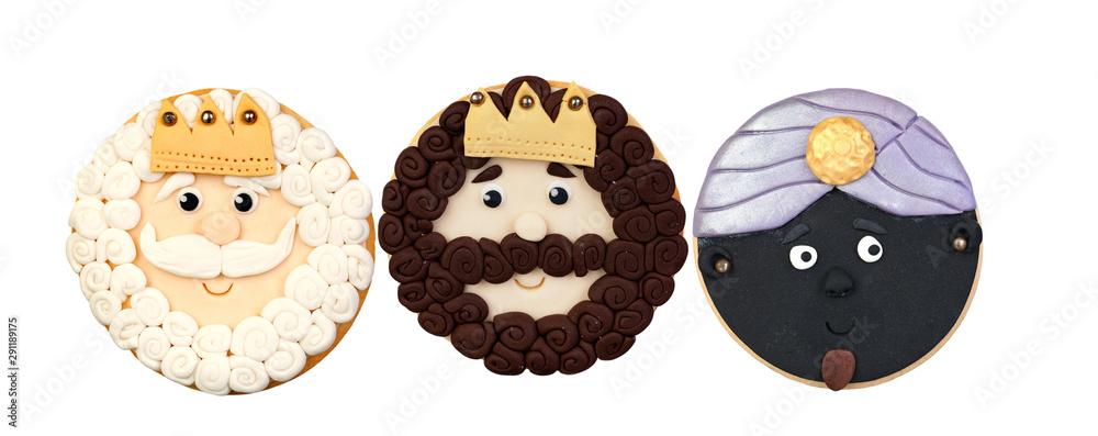 Fototapeta The three wise men, cookies for Christmas