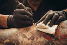 Close Up Tattoo Machine. Tatto...