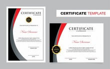 Certificate Set Template,Vertical And Horizontal