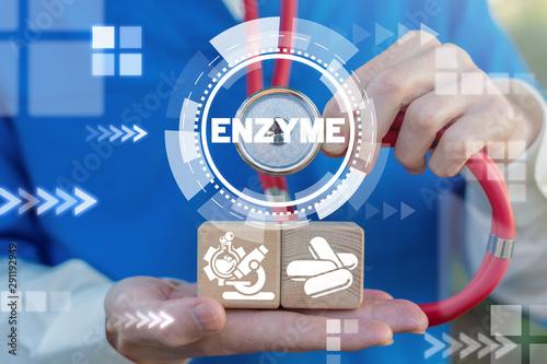 Cuadros en Lienzo  Enzyme Medical Organic Natural Vitamin concept. Enzymes Pills.