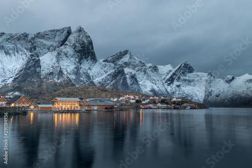 Fototapeta Beautiful landscape in Lofoten Islands in Winter, Norway obraz na płótnie