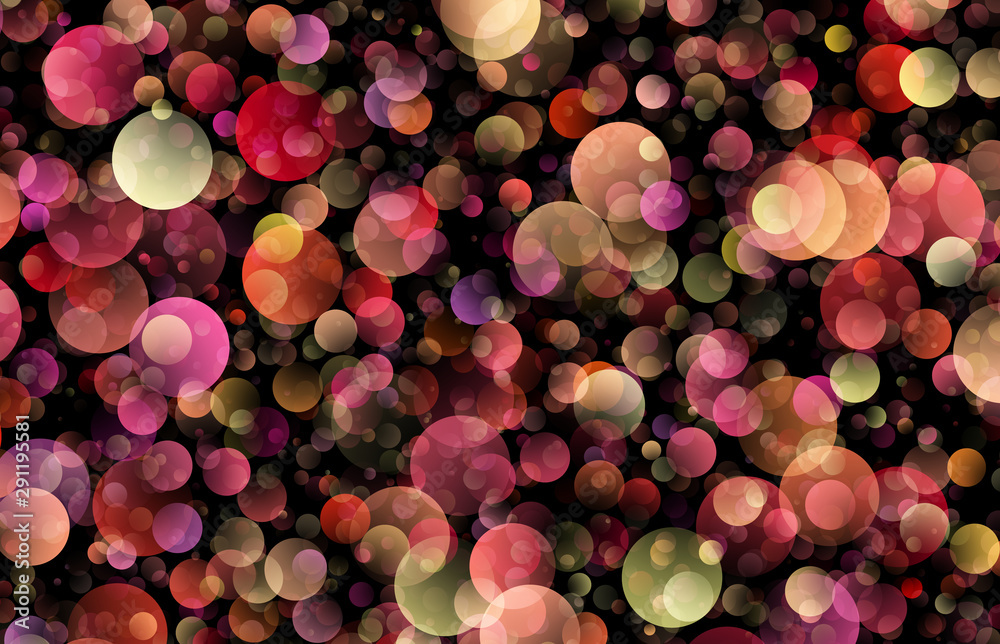 Fototapeta gradient abstract colored circles