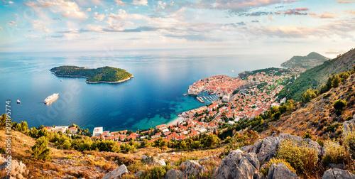 Aerial morning view of Dubrovnik city Slika na platnu