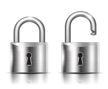 Realistic Lock Closed And Open – Stock Vector