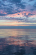 pastel colors over the sea