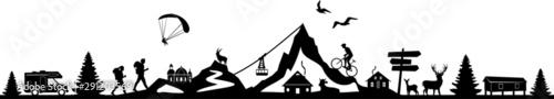 Obraz Nature Landscape Mountain Sport Vector - fototapety do salonu