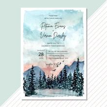 Wedding Invitation Card With L...