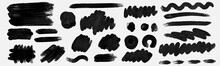 Brush  Paint Hand Drawn Vector Set