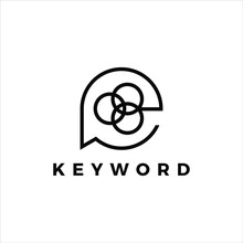 Keyword Logo Simple Black Line...