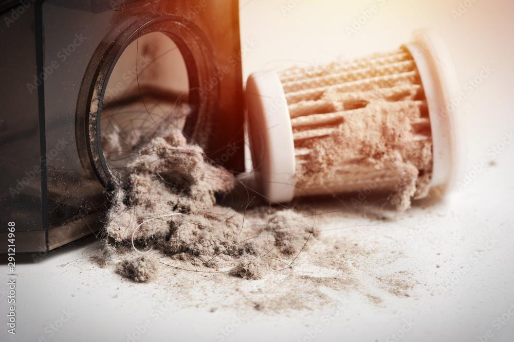 Fototapeta dust on HEPA filter