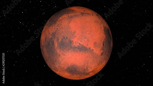 planet mars in space Canvas Print