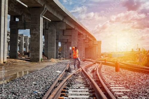 Fotografia engineer railway in the city