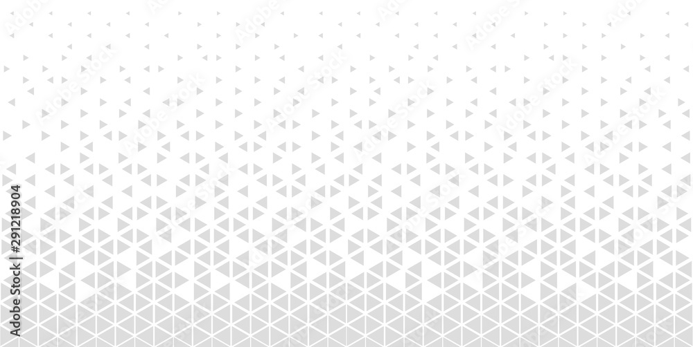 Fototapeta Halftone triangle abstract background. Monochrome geometric vector pattern.