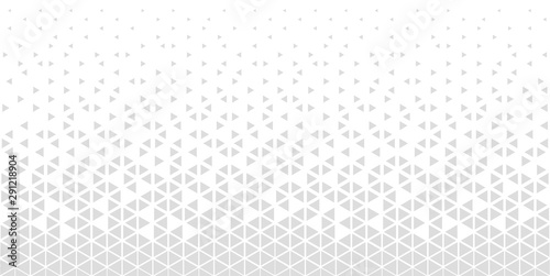 Fotografiet  Halftone triangle abstract background