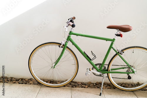 Türaufkleber Fahrrad Cycling in city urban environment, ecological transportation concept.