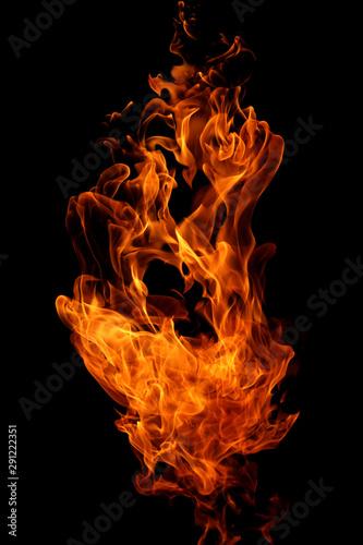 Keuken foto achterwand Vuur abstract fire flames movement on black background