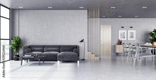 Obraz large luxury modern bright interiors room illustration 3D rendering - fototapety do salonu
