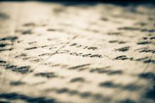 Carta Con Escrito, Caligrafía...