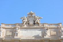 Trevi Fountain Historical Building Rome Italy
