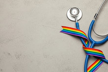 Stethoscope And LGBT Rainbow R...
